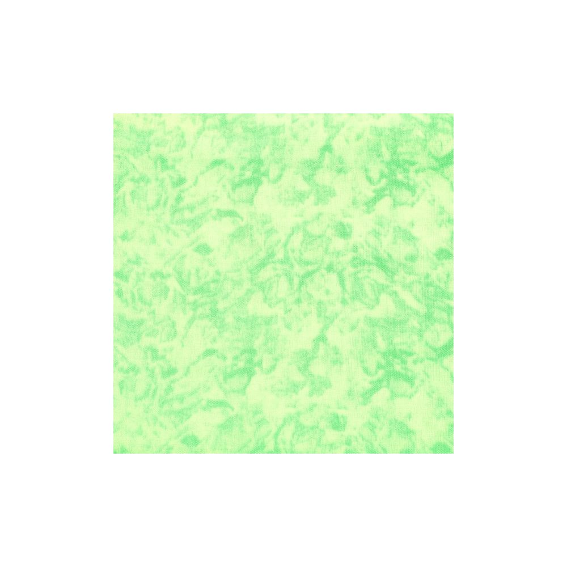 Coton patchwork marbré vert layette zoom