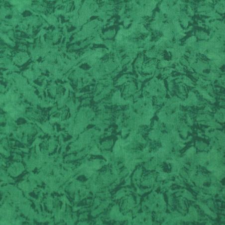 Coton patchwork marbré menthe
