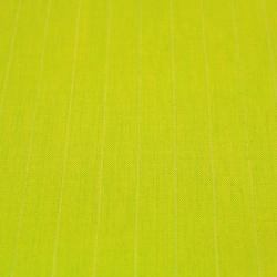 Lin uni de couleur vert fluo rayures blanches