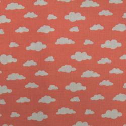 Coton imprimé motifs nuages