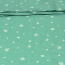 Coton imprimé motifs étoiles blanches