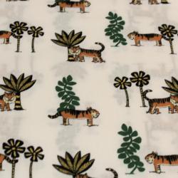 Coton imprimé motifs tigres