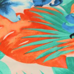 Coton imprimé motifs fleurs