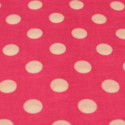 Coton imprimé motifs pois blanc