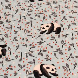 Coton imprimé motifs pandas