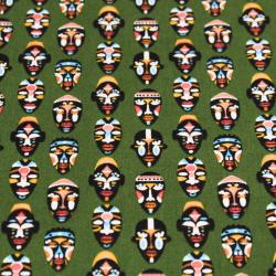 Coton imprimé motifs masques