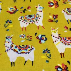 Coton imprimé motifs lamas
