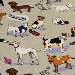 Coton imprimé motifs chiens