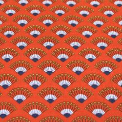 Coton imprimé motifs éventails