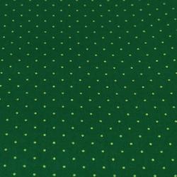 Coton imprimé motifs pois de noël couleur or