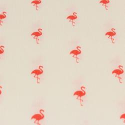 Coton milleraies imprimé flamants rose