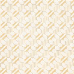 Coton patchwork géométrie beige