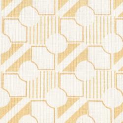 Coton patchwork géométrie beige zoom