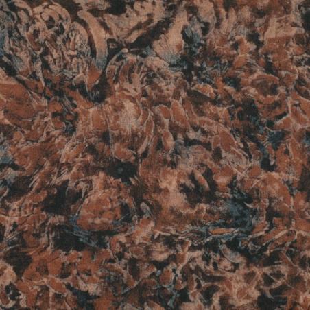 Coton patchwork marbré acajou
