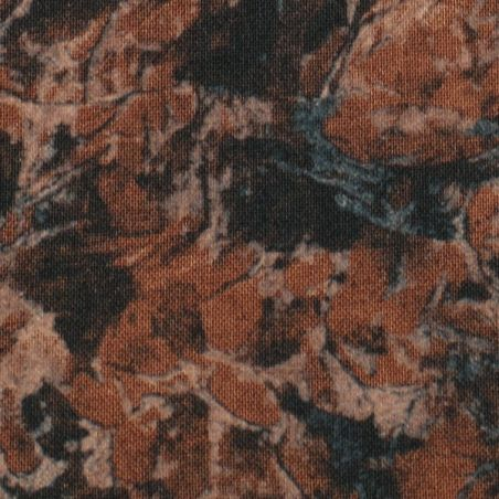 Coton patchwork marbré acajou zoom