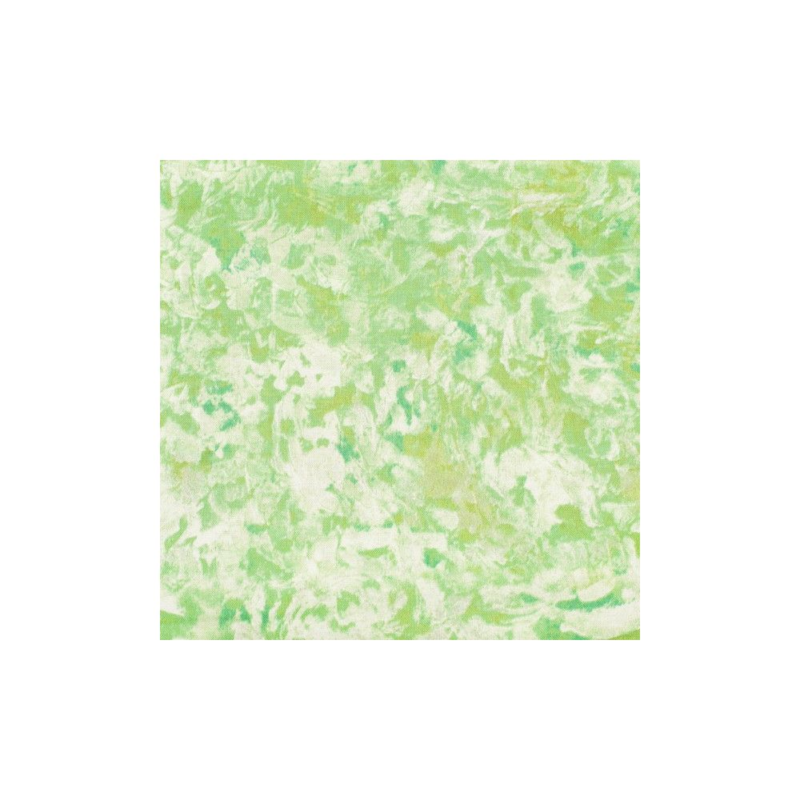 Coton patchwork marbré vert anis