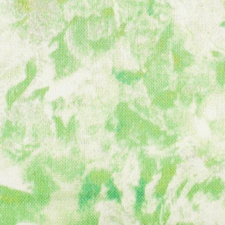 Coton patchwork marbré vert anis zoom