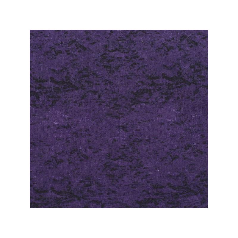 Coton patchwork marbré faux uni violet foncé