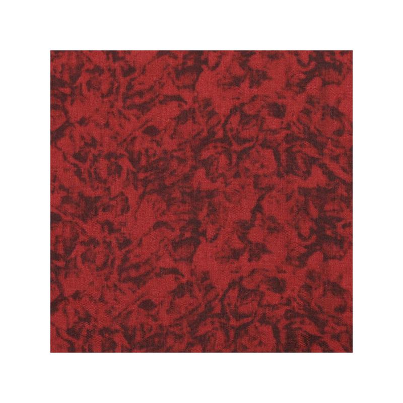 Coton patchwork marbré cerise
