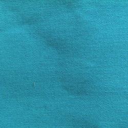 Toile chaise longue uni turquoise