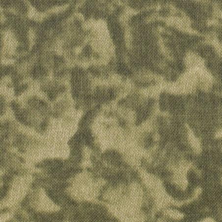 Coton patchwork marbré lichens zoom