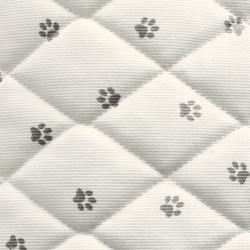 Tissus matelassé imprimé pattes d'ours