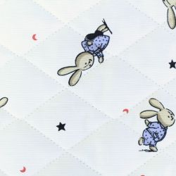 Tissus matelassé imprimé lapins